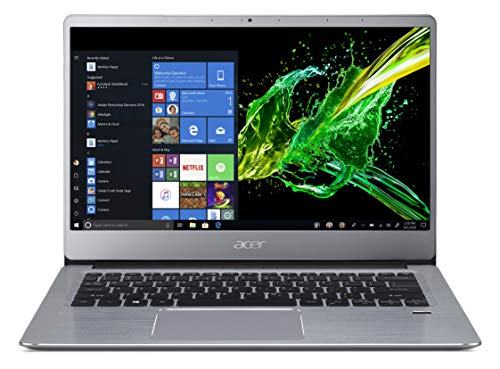 Acer Swift 3 SF314-41-R3J2 Notebook con Processore Ryzen 5 3500U, RAM da 8 GB DDR4, 256 GB PCIe NVMe SSD, Display 14' FHD IPS LED LCD, Scheda Grafica Radeon Vega 8, Windows 10 Home, Silver