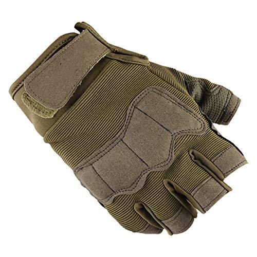 Fitnesshandschuhe Unisex Half Finger Outdoor Sport Bergsteigen Mitten Handschuhe für Männer-a31