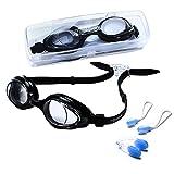 riptide Schwimmbrille - Taucherbrille in schwarz I mit Ohrenstöpsel und Nasenklammer I...