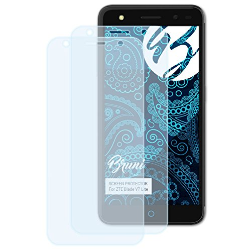 Bruni Schutzfolie kompatibel mit ZTE Blade V7 Lite Folie, glasklare Bildschirmschutzfolie (2X)