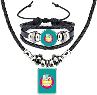 Women Goddess Lover Gentle Leather Necklace Bracelet Jewelry Set