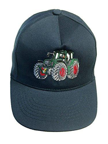 Zintgraf Jungen Cap Baseball Kappe Traktor Stickerei Grüner Schlepper (dunkelblau)