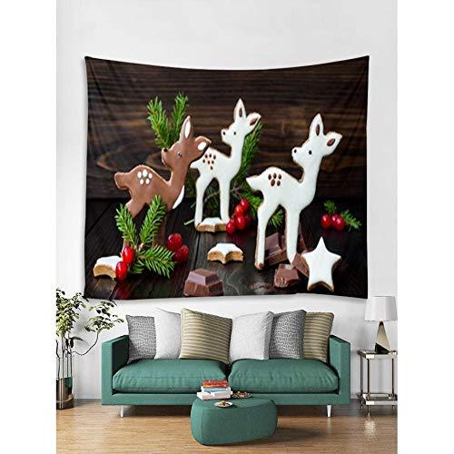 Zbzmm Tapestry Wall Art Home Decoratieve muur opknoping Thuis Achtergrond Doek Nordic Kerst Decoratie Serie