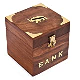 Rusticity® Wood Piggy Bank for Kids and Adults - Elephant motif   Handmade