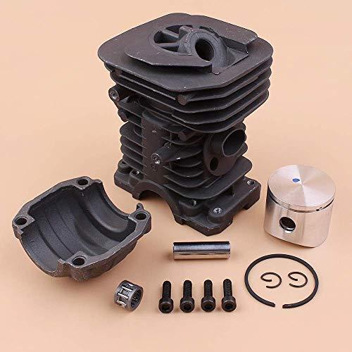 Juego de tornillos de montaje en culata de pistón de culata de cilindro de 40 mm compatible con HUSQVARNA 142137141136 piezas de reconstrucción de extremo superior de motosierra de gasolina