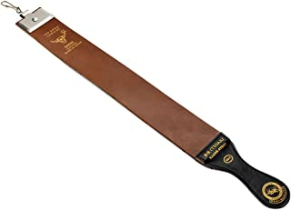 "Razor Strop 2 1/2"" X 23"" Top Grain Barber's Razor Knife Strop Buffalo Hide Dual Straps Swivel Clip Leather Straight Razo"