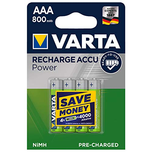 4x VARTA Batterie Akku Ready2Use MICRO AAA 1,2 V HR03 800mAh
