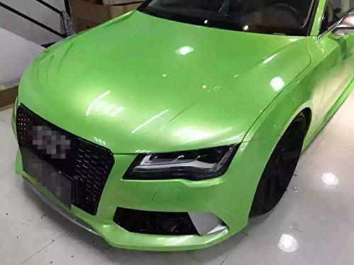 Kunfine Cowry Vert 1.52x20ML Fibre de carbone en vinyle Extérieur et Intérieur Autocollant DIY Décoration pour Téléphone /Voiture /PC /Moto 59.8\