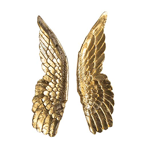 Near and Deer Angel Wings Wall Decor, Large, Gold
