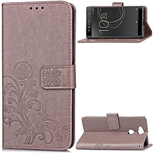 Hülle für Sony [Xperia XA2 Ultra] Hülle Handyhülle [Standfunktion] [Kartenfach] Schutzhülle lederhülle klapphülle für Xperia XA2 Ultra - DESD051859 Grau