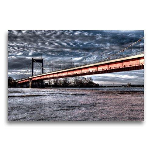 Puente Friedrich-Ebert, en el Fondo del Puente de la casa de la Pista de Hielo y el Puente A 42, 75x50 cm