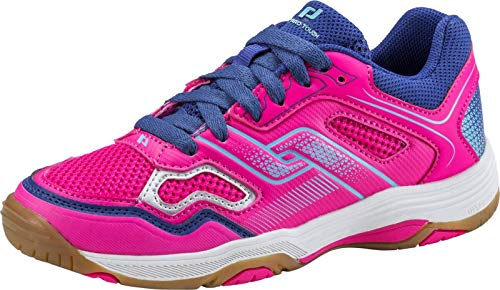 Pro Touch Unisex-Kinder Rebel II Jr. Multisport Indoor Schuhe Pink/Navy/Turquoise 000, 33 EU