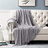 Bedsure Throw Blanket for Couch, Knit Woven Blanket, 50×60 Inch - Cozy Lightweight Decorative...