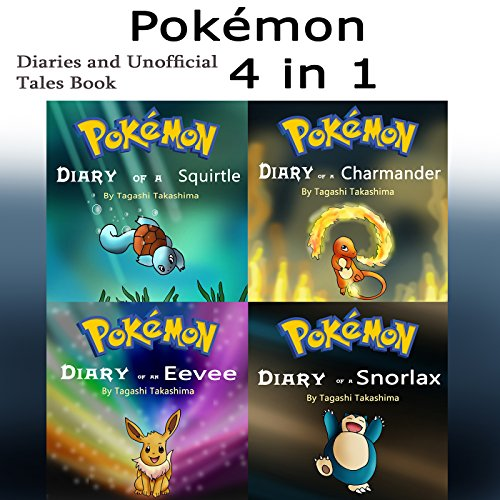 Pokemon: Diaries and Unofficial Tales 4-in-1 Book audiobook cover art