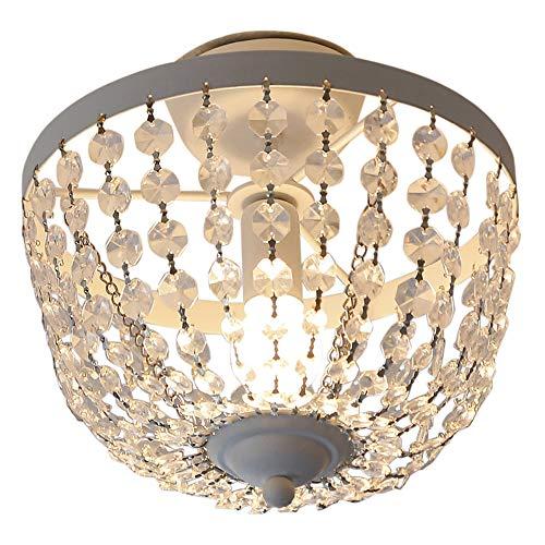 Grafelstein Deckenlampe, Chateau, weiß, Shabby chic, Deckenleuchte, mit Kristallen