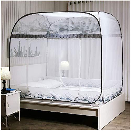 Travel tragbare Falten Moskito geschlossen Vollständig autonomes Moskitozelt Camping Mosquito Vorhang seitliche Öffnungen 3, Stoff Mesh, robust und waschbar, 180 * 200 * 170cm jianyu