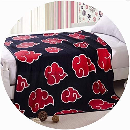 Cama de lana manta anime naruto Patrón de nube roja Víspera de Todos los Santos Pascua de Resurrección, Manta de manta de oficina de manta de sofá de San Valentín ( Color : B , tamaño : 60*78' )