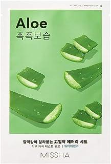 Missha, Pure Source Cell Sheet, maschera per il viso all'aloe vera, cosmetico coreano (etichetta in lingua italiana non ga...