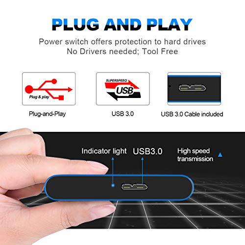 """Prode Disco Duro Externo Portátil 2.5"""" USB3.0 SATA HDD Almacenamiento para PC y Mac Xbox One (2 TB, Azul) miniatura"""