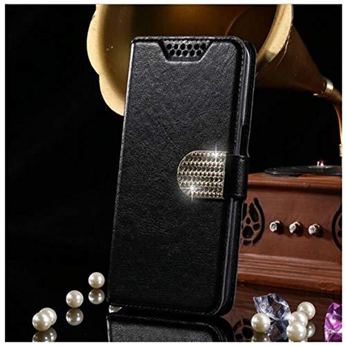 LIANLI - Funda de piel con tapa para Lenovo S660 S60 S820 S850 S856 S860 S90 S920 S580 A859 P70 A2010 P1M Z90 A536 A319 P780 Coque Shells (color: negro AZ Diamond, tamaño: para Lenovo Z90)