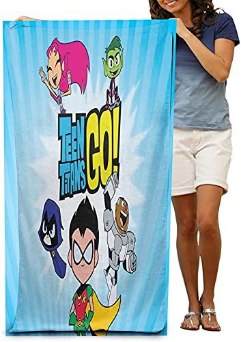 Teen Titans Go - Toalla de playa grande y de secado rápido (Go4, 90 cm x 180 cm)