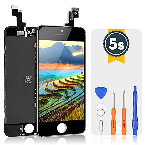 bokman Schermo Display LCD per iPhone 5s/SE Nero, Touch Screen Digitizer Parti di Ricambio con Strumenti di Riparazione