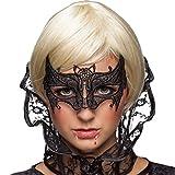 NET TOYS Venezianische Fledermausmaske Augenmaske Vampir Gothic Maske Maskenball Spitzenmaske...