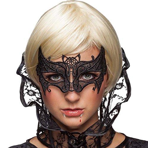 NET TOYS Venezianische Fledermausmaske Augenmaske Vampir Gothic Maske Maskenball Spitzenmaske Fledermaus Vampirkostüm Ballmaske Fledermauskostüm Zubehör