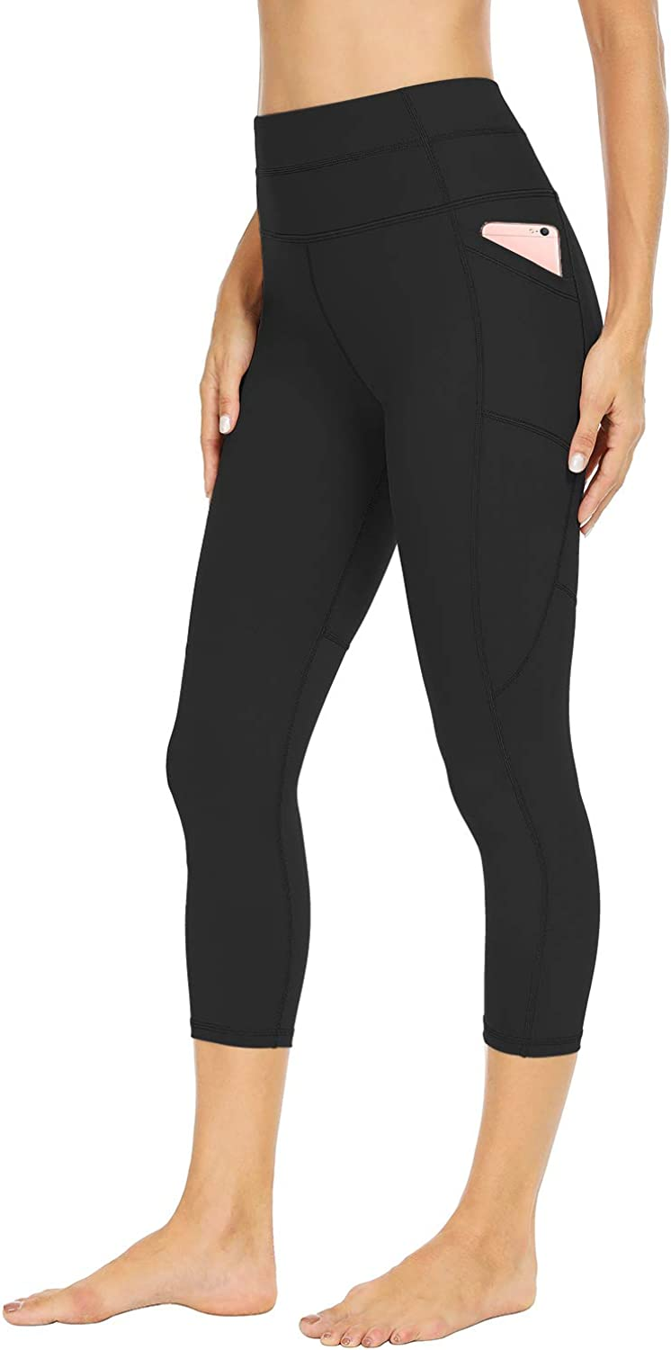 Sarin Mathews Yoga Pants for Women with Pockets Capri Workout Leggings for Women High Waisted Athletic Running Leggings