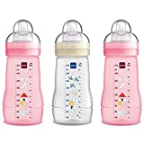 MAM Easy Active - Botellas para bebé (270 ml, 3 unidades), diseño de chica