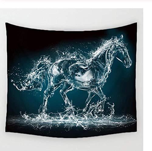 Zbzmm Hoofddecoratie-mandala trabwater paard wandtapijt wandtapijt Home Living Decor ruimte bloem strand mat_150x130cm