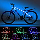 DANCRA Bike Lights LED Bicycle Frame Light Strip Battery Powered 0.8M×2 R/G/B Color Changing with 3-Key Controller Waterproof Kids Tricycle Bike Accessories.
