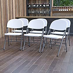 White outdoors folding chairs