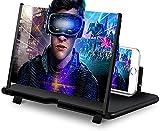 Lupa de Pantalla 3D para Teléfono -14'' HD Plegable Amplificador Pantalla para Móvil - contra la Luz Azul- Compatible con Todos los Smartphones