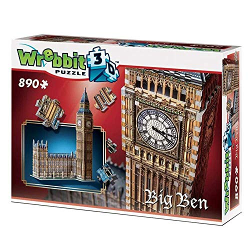 Wrebbit 3D W3D-2002 London Big Ben 890 pcs 3D-Puzzle, bunt