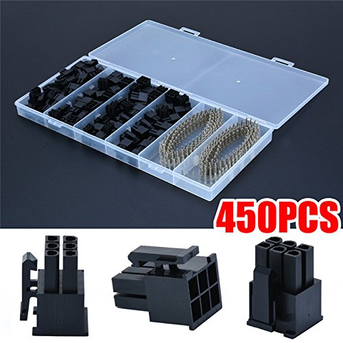 50 stks 5557 8P (6+2) Pin ATX EPS PCI-E Connector + 400 stks Terminal Crimp Pin Plug Met Doos voor Computer Vrouwelijke Connector