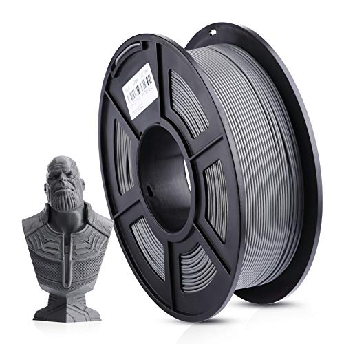 ANYCUBIC 3D Printer 1KG 1.75mm Filament PLA, 3D Printing PLA Filament for 3D Printers & 3D Pens (Grey)