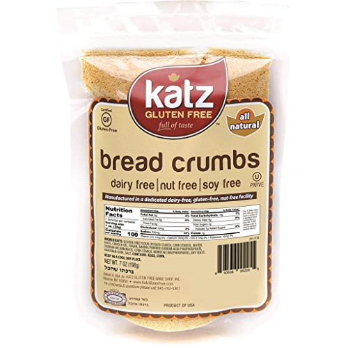 Katz Gluten Free Bread Crumbs | Dairy, Nut, Soy and Gluten Free | Kosher (1 Pack, 7 Ounce)