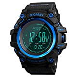 LB LIEBIG Compass Watch Army, Digital Outdoor Sports Watch for Men, Pedometer Altimeter Calories Barometer Temperature Waterproof