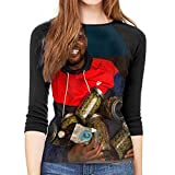 Photo de hdghgfjfghjd T-Shirts Femme Manches 3/4,t Shirts pour Femmes,Schoolboy Q Woman's Raglan 3/4 Length Sleeve Baseball Tee T-Shirt Ladies Fashion Clothing Tunic Tops Blouse par