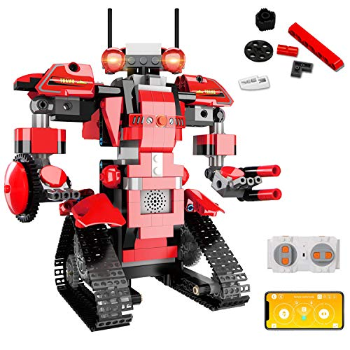 aukfa STEM Building Block Toy RC Robot for Kids, App Controlled & Remote Control Robotic Toy for Boys and Girls, Engineering Educational Build Kit,  Early Learning Birthday Gift for 8 Years and Up
