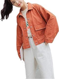 8c9c2a89e2e KAOKAOO Women s Casual Distressed Washed Boyfriend Look Style Denim Jacket