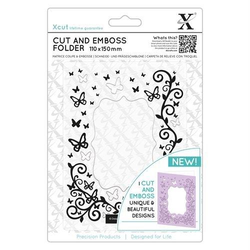 Xcut Cut & Emboss Scrapbook Paper Craft Folder (110x150mm) - Butterfly Frame