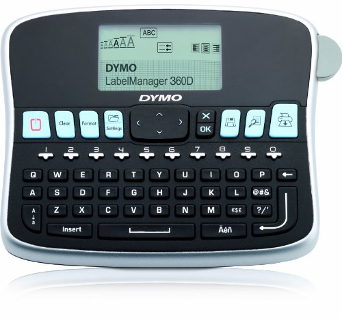 Dymo S0879490 Label Manager 360D Handheld Label Maker Qwerty Keyboard, Black