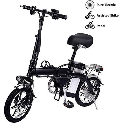 Bicicletta elettrica pieghevole con motore brushless da 250 W, doppio freno a disco, tre modalità fino a 35 km/h massimo 100 km, bici elettriche da città, 60 km