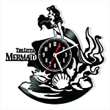 Little Mermaid Vinyl Clock, Little Mermaid Wall Clock 12', Art Original Decor, The Best Home Decorations