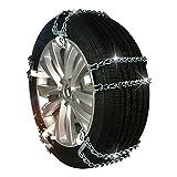 Hging Cadenas Antideslizantes, Cadenas de neumáticos de 6 Paquetes, para automóviles/vehículos Todoterreno/de camión/Ancho de neumático Mínimo 175 mm-máximo 315 mm (6.88-12.40 Pulgadas) Tres Tip
