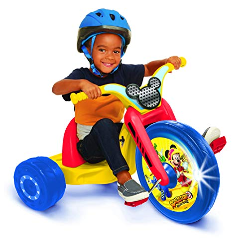 "Mickey and the Roadster Racers 15"" Fly Wheel Junior Cruiser Ride-on, Ages 3-7, Yellow/Red/Blue, 20"" W x 22.5"" H x 32.83"" L"