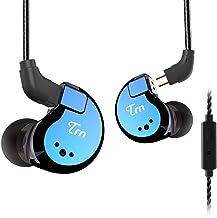TRN V80 Hi-Fidelity Stereo Bass Headphone, 2 Balanced Armature and 2 Dynamic Driver in Ear Earphone Metal Headset with Rem...