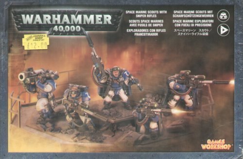 Games Workshop Space Marines Scouts W/Sniper Rifles 40K